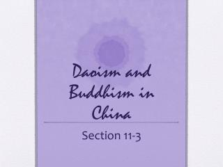 Daoism and Buddhism in China
