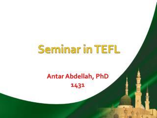 Seminar in TEFL
