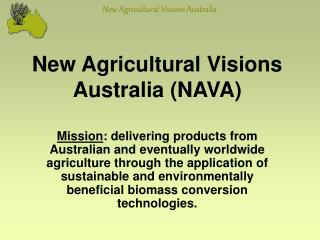 New Agricultural Visions Australia NAVA