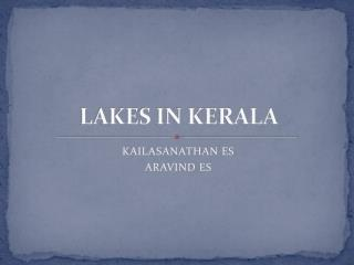 LAKES IN KERALA
