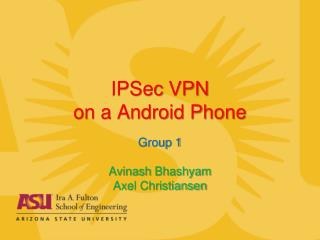 IPSec VPN on a Android Phone