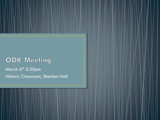 ODK Meeting