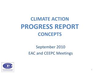 Climate Action  Progress Report  Concepts