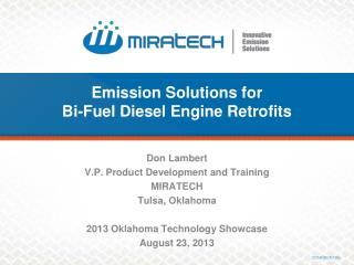 Emission Solutions for  Bi-Fuel Diesel Engine Retrofits