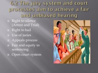 6.2 The jury system and court processes aim to achieve a fair and unbiased hearing
