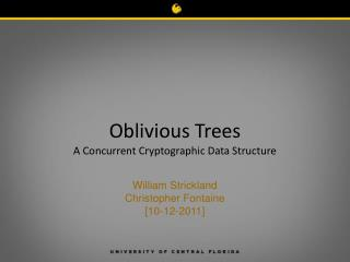Oblivious Trees A Concurrent Cryptographic Data Structure
