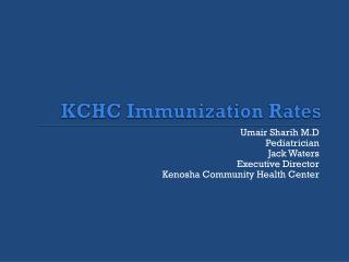 KCHC Immunization Rates