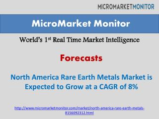 North America Rare Earth Metals Market is Expected to Grow a