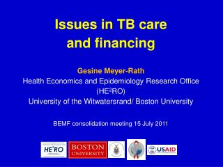 Why TB financing?