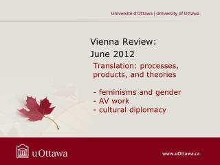 Vienna  Review :  June  2012