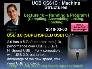 USB 3.0 (Superspeed Usb) out