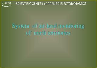 SCIENTIFIC CENTER of APPLIED ELECTODYNAMICS
