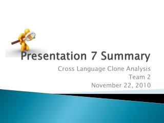 Presentation  7 Summary