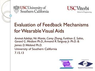 Evaluation of Feedback Mechanisms for Wearable Visual Aids