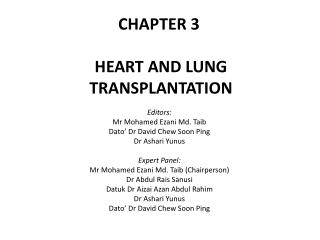 CHAPTER 3 HEART AND LUNG TRANSPLANTATION