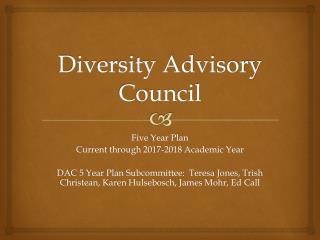 Diversity Advisory Council