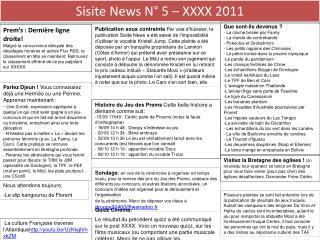 Sisite News N° 5 – XXXX 2011