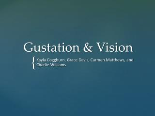 Gustation & Vision