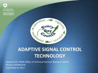 Adaptive Signal Control Technology