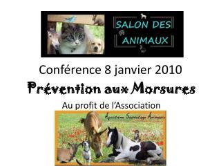 Conférence 8 janvier 2010