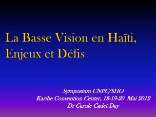 La  Basse Vision en  Haïti, Enjeux et Défis