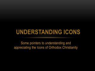 Understanding Icons