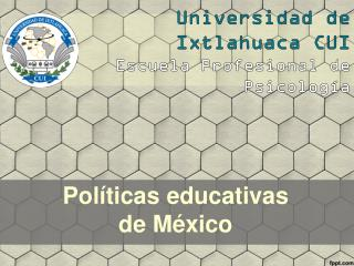 Políticas educativas de México