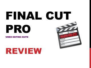 FINAL CUT PRO VIDEO EDITING SUITE