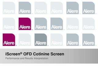 iScreen ®  OFD Cotinine Screen