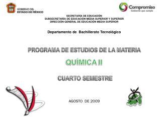 SECRETARÍA DE EDUCACIÓN SUBSECRETARÍA DE EDUCACIÓN MEDIA SUPERIOR Y SUPERIOR