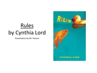 Rules by Cynthia Lord