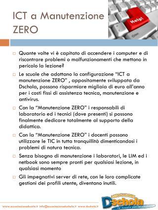 ICT a Manutenzione ZERO