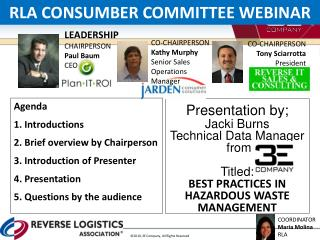 Presentation by; Jacki  Burns Technical Data Manager  from Titled: