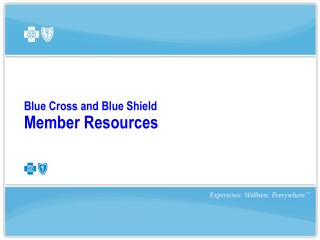Blue Cross and Blue Shield  Member Resources
