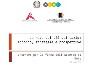 La rete dei LES del Lazio: Accordo, strategie e prospettive