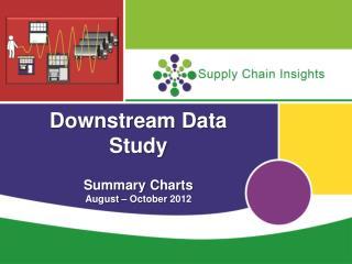 Downstream Data Study Summary Charts August – October  2012