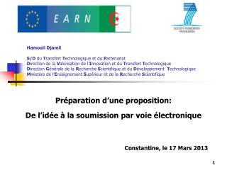 Préparation d'une proposition: De l'idée à la soumission par voie électronique