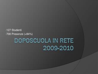 Doposcuola in rete 2009-2010