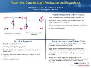 Placement-Coupled Logic Replication and  Resynthesis