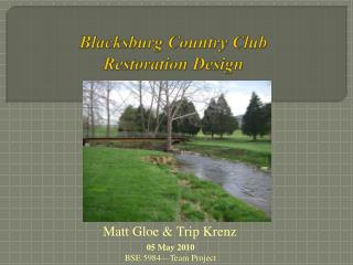 Blacksburg Country Club Restoration Design