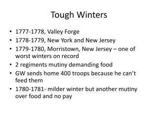 Tough Winters