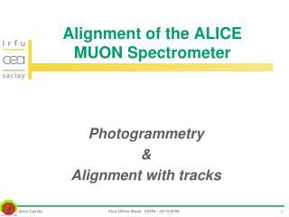 Alignment of the ALICE MUON Spectrometer