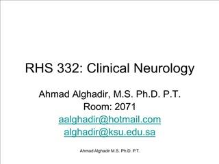 RHS 332: Clinical Neurology