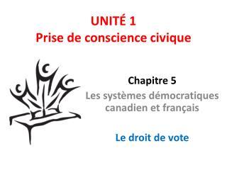 UNIT� 1 Prise de conscience civique
