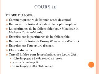COURS 1b