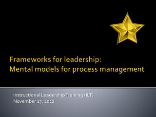 Frameworks for leadership:  Mental models for process management