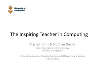 The Inspiring Teacher in Computing