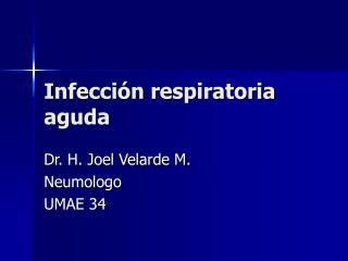 Infecci n respiratoria aguda