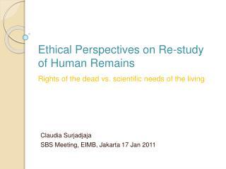 Claudia Surjadjaja SBS Meeting, EIMB, Jakarta 17 Jan 2011