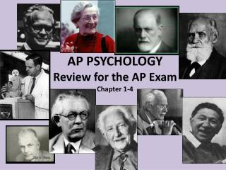 AP PSYCHOLOGY Review for the AP Exam Chapter 1-4